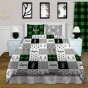 Green Christmas bedding