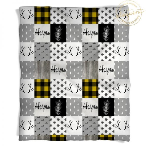 yellow plaid blanket