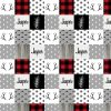 red plaid woodland patter
