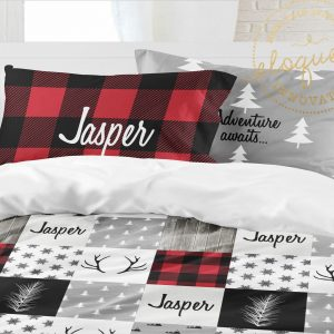 red christmas bedding