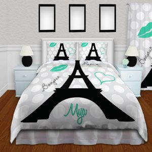 Eiffel Tower Bedding and Comforter Set