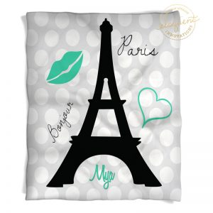 Eiffel Tower Blanket
