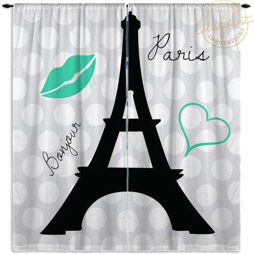 Eiffel Tower Window Curtains
