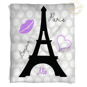 #227 Paris Eiffel Tower Throw Blanket