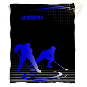 #228 Hockey Throw Blanket