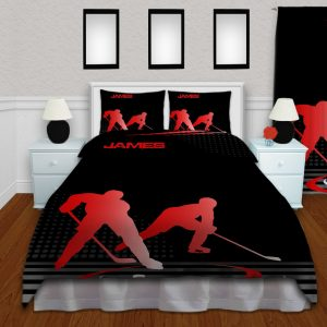 #229 Hockey Bedroom Set in Red