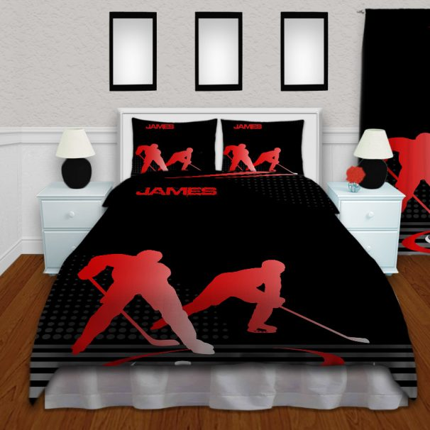 #229 Hockey Bedroom Set in Red