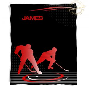 #229 Hockey Blanket in Red