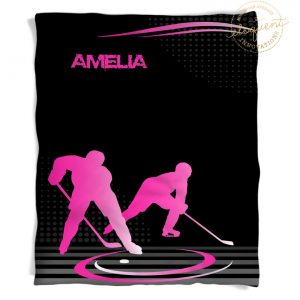 #230 Hockey Mom Blanket in Pink