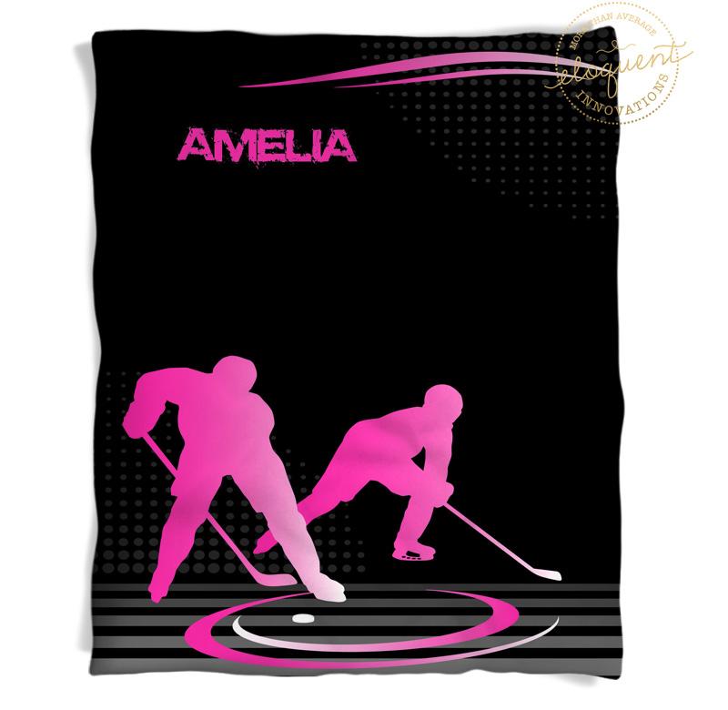 #230 Hockey Mom Blanket in Pink