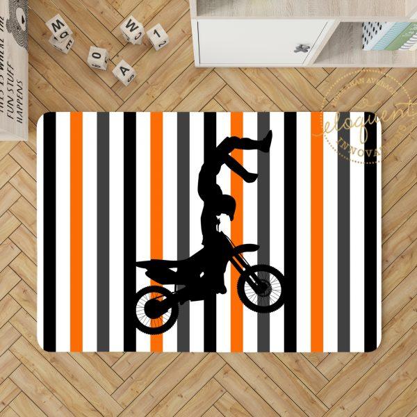 #154_Motocross Orange_Rug