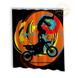 #246_MotoOrgange_Shower_Curtain