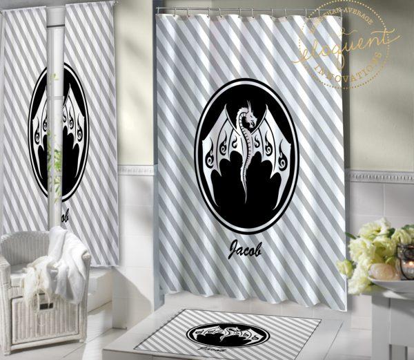 #308_Dragon_Shower_Curtain