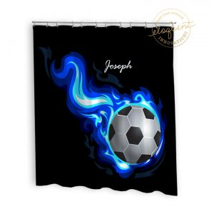 #252_SoccerFlame_Shower_Curtain