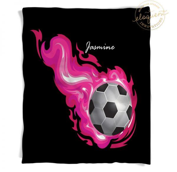 #253_SoccerFlame_Blanket