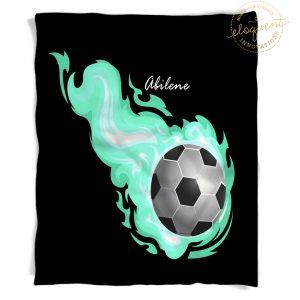 #254_SoccerFlame_Blanket