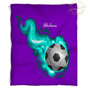 #255_SoccerFlame_Blanket