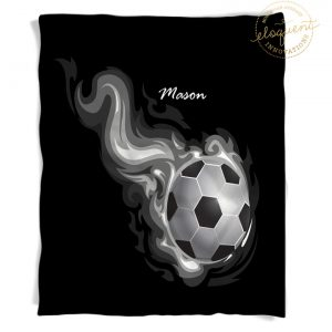 Soccer Blanket Personalized