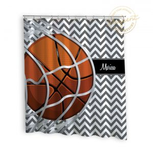 #259_BasketballTeam_Shower_Curtain