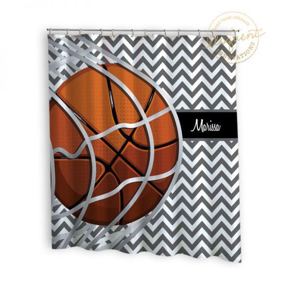#259_BasketballTeam_Shower_Curtain