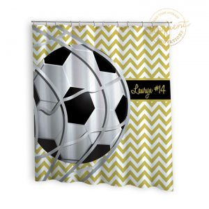 #261_SoccerTeam_Shower_Curtain