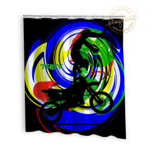 #263_MotocrossBright_Shower_Curtain