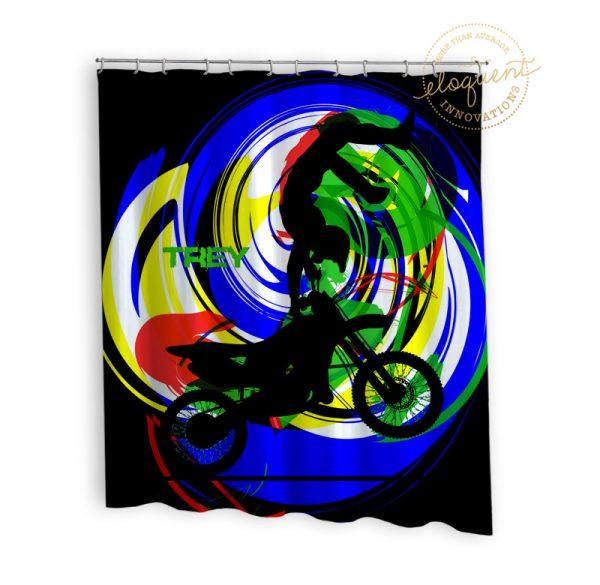 #263_MotocrossBright_Shower_Curtain