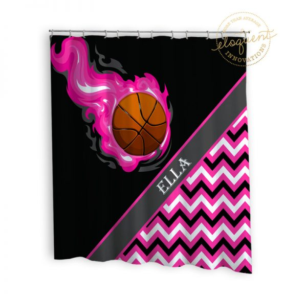 #275_BasketballChevron_Shower_Curtain