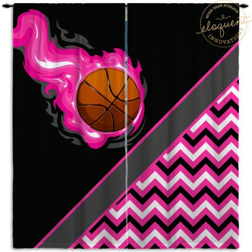 #275_BasketballChevron_Window_Curtain