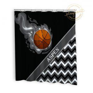 #276_BasketballChevron_Shower_Curtain