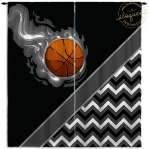 #276_BasketballChevron_Window_Curtain