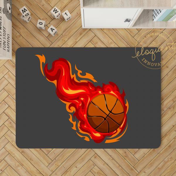 #278_BasketbalRed_Rug