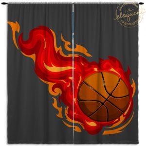 #278_BasketballRed_Window_Curtain