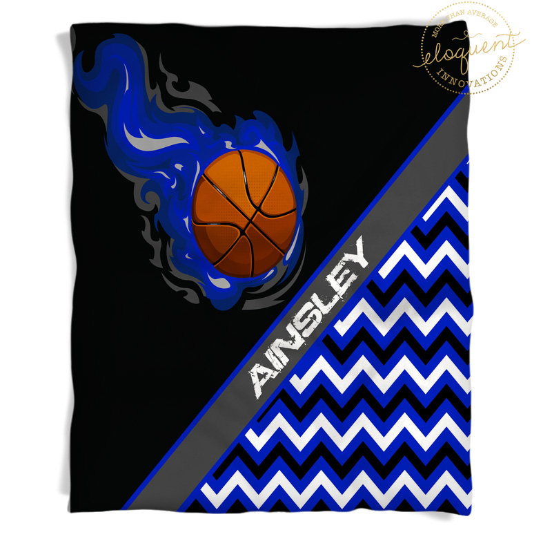 Blanket Themed Gifts in Blue Chevron