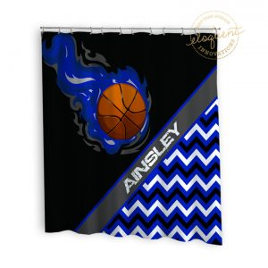 #279_BasketballChevron_Shower_Curtain