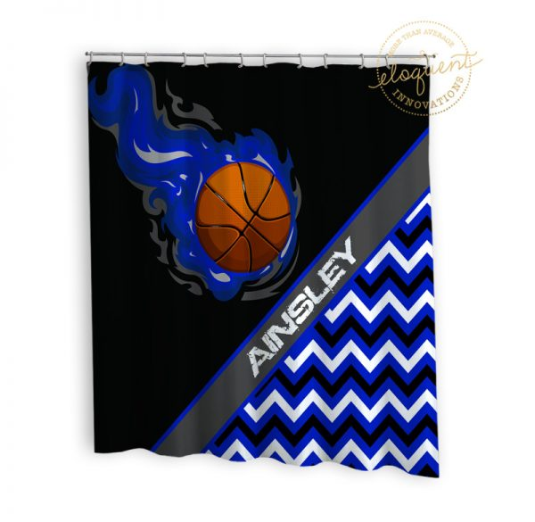 #279_BasketballChevron_Shower_Curtain