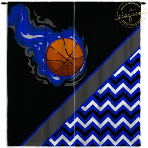 #279_BasketballChevron_Window_Curtains