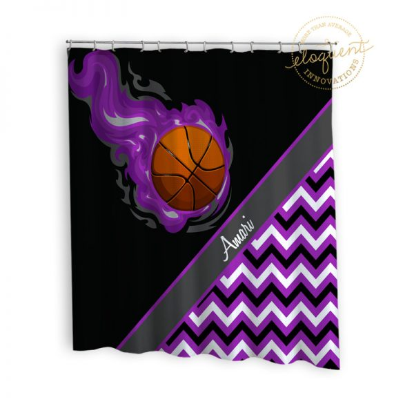 #280_BasketballChevron_Shower_Curtain