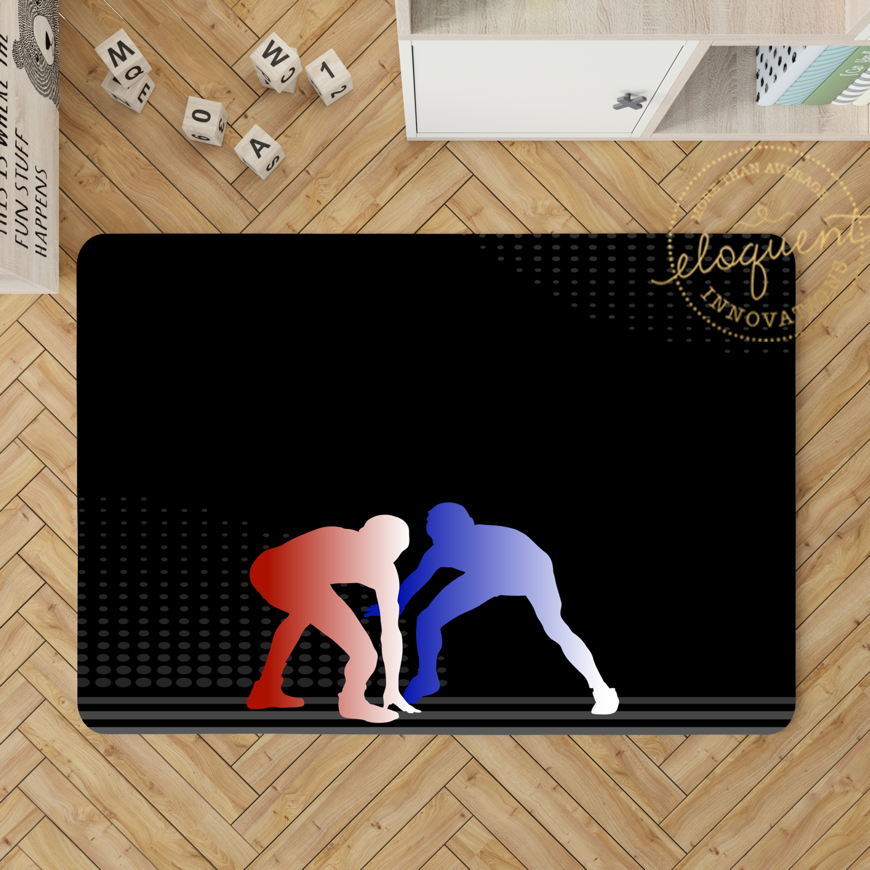 Wrestling Area Rug Bedroom Rug Personalized 390