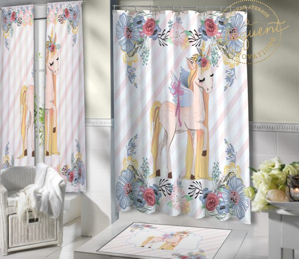 #421_Unicorn_Shower_Curtain
