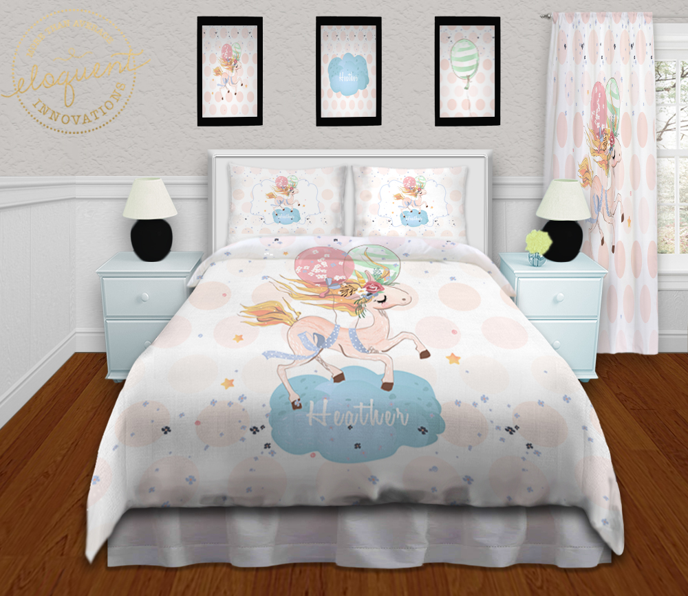 Unicorn Bedding For Kids Unicorn Bed Personalized With