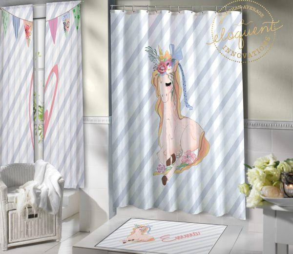 #427_Unicorn_Shower_Curtain