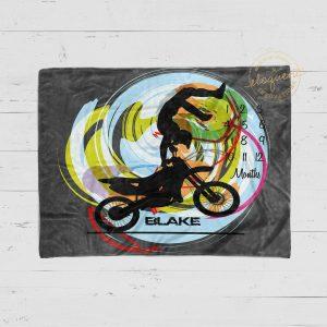 #11_Gray Motocross Milestone Blanket