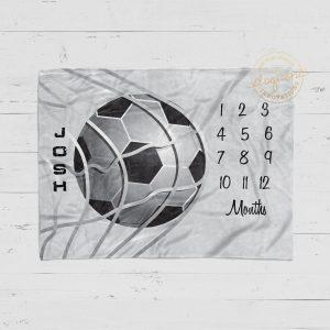 #13_Soccer Milestone Blanket