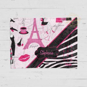 #14_Paris_Zebra_Pink_Milestone_Blanket
