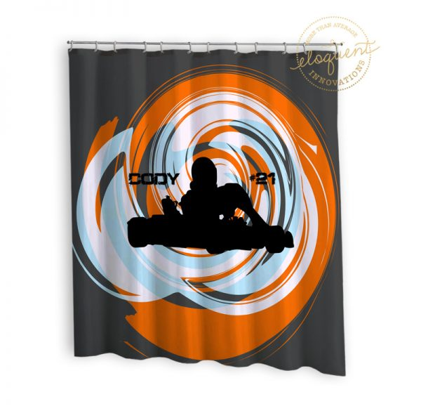 #393_Gocart_Shower_Curtain