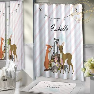 #429_Forest Animal Shower Curtain