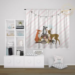 #429_Forest Animal Window Curtain