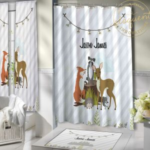 #430_Forest Animal Shower Curtain
