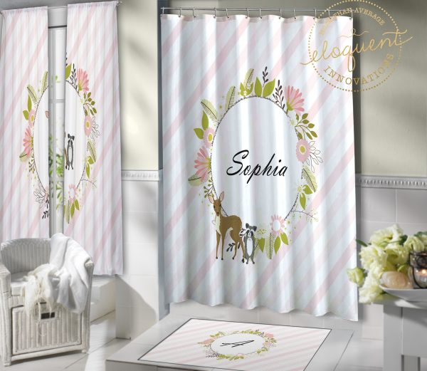 #431_Woodland Shower Curtains